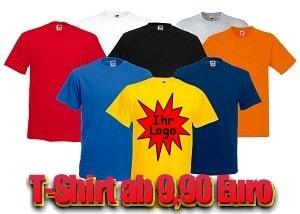 T-Shirt mit Ihrem Logo schon ab 9,90 Euro