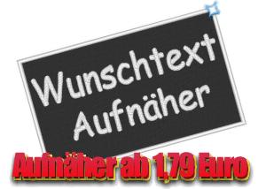 Wunschtext Aufnäher ab 1,79 Euro