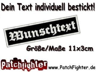 WUNSCHTEXT Dein Text Patch Aufnäher 11x3cm
