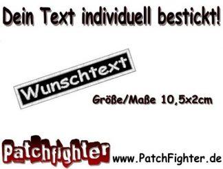 WUNSCHTEXT Dein Text Patch Aufnäher 10,5x2cm