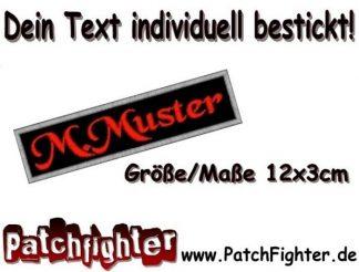 WUNSCHTEXT Dein Text Patch Aufnäher 12x3cm