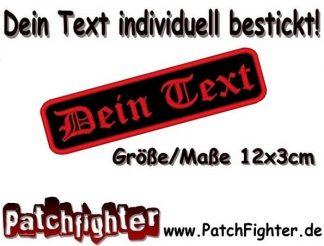 WUNSCHTEXT Dein Text Patch Aufnäher Abzeichen Abgerundet