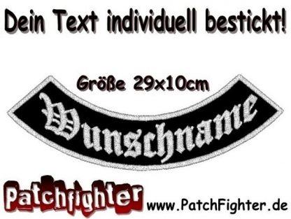 WUNSCHTEXT Bogen Patch Aufnäher Rückenaufnäher Biker Bottom Rocker 29x10cm