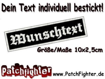 WUNSCHTEXT Dein Text Patch Aufnäher 10x2,5cm