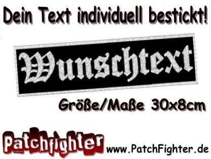 WUNSCHTEXT Dein Text Patch Aufnäher Balken 30x8cm