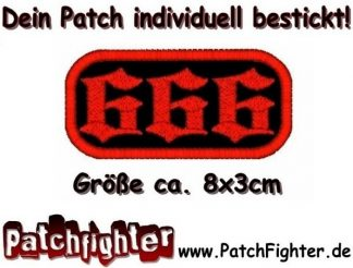 666 Patch Aufnäher Punk Metal Rocker Biker Gothic 8x3cm