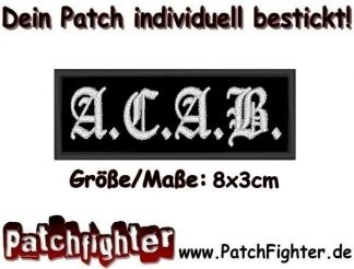 ACAB All cops are bastards Patch Aufnäher 8x3cm