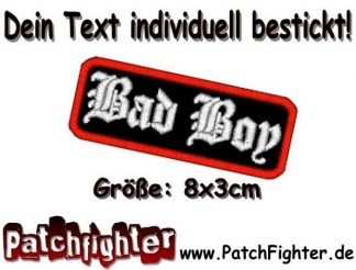 Bad Boy Textilaufnäher Patch Aufnäher 8x3cm