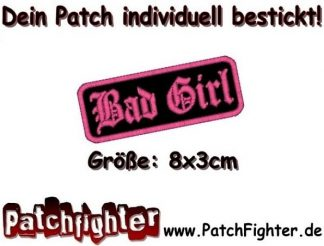 Bad Girl Lady Patch Aufnäher 8x3cm