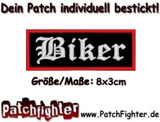 Biker Motorrad Patch Aufnäher 8x3cm