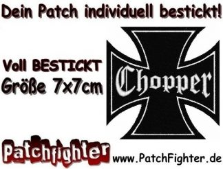 Chopper Eisernes Kreuz Iron cross Patch Aufnäher 7x7cm