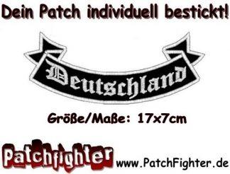 Deutschland Germany Schleife Patch Aufnäher 17x7cm