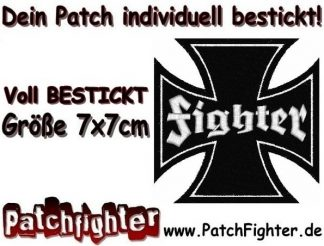Fighter Eisernes Kreuz Iron cross Patch Aufnäher 7x7cm