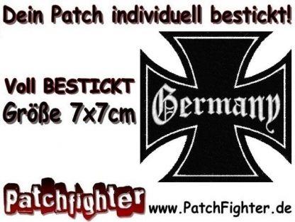Germany Eisernes Kreuz Iron Cross Patch Aufnäher 7x7cm