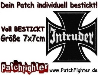 Intruder Eisernes Kreuz Iron Cross Patch Aufnäher 7x7cm