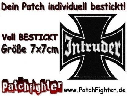 Intruder Eisernes Kreuz Iron Cross Patch Aufnäher 7x7cm