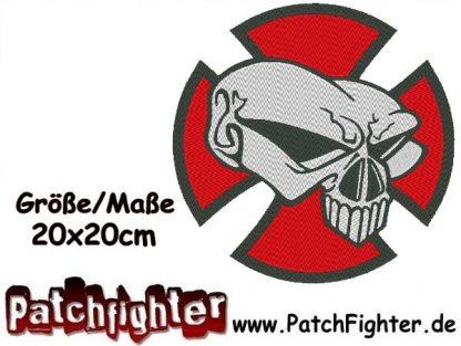 Iron Cross Skull Backpatch Patch Aufnäher 20x20cm