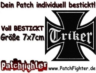 Triker Eisernes Kreuz Iron Cross Patch Aufnäher 7x7cm