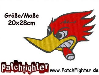Woody Woodpecker Backpatch Patch Aufnäher 20x20cm
