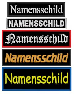 Aufnäher Namensschilder