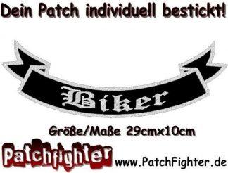 Biker-Schleife-Patch-Aufnäher-Rückenaufnäher-Biker-Bottom-Rocker-29x10cm