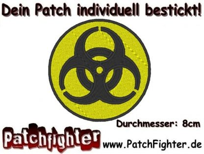 Biohazard biological hazard Patch Aufnäher 8cm