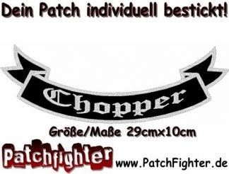 Chopper-Schleife-Patch-Aufnäher-Rückenaufnäher-Biker-Bottom-Rocker-29x10cm