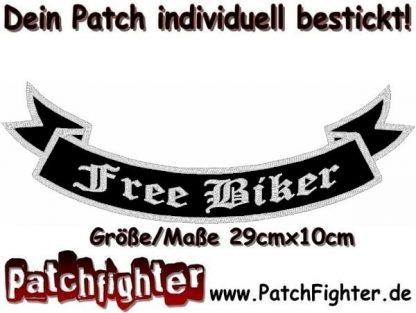 Free Biker-Schleife-Patch-Aufnäher-Rückenaufnäher-Biker-Bottom-Rocker-29x10cm