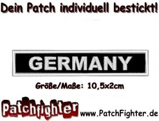 GERMANY Text Patch Aufnäher 10,5x2cm