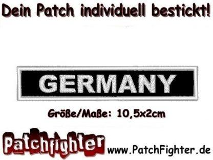 GERMANY Text Patch Aufnäher 10,5x2cm