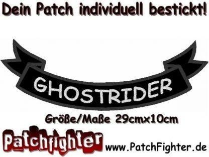 GHOSTRIDER-Schleife-Patch-Aufnäher-Rückenaufnäher-Biker-Bottom-Rocker-29x10cm