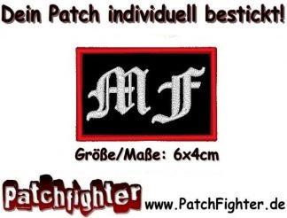 MF Motorradfreunde Text Patch Aufnäher 6x4cm