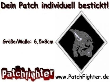 Odin Wikinger Motiv Raute Patch Aufnäher 6,5x8cm