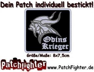 Odins Krieger Wikinger Patch Aufnäher 8x7,5cm