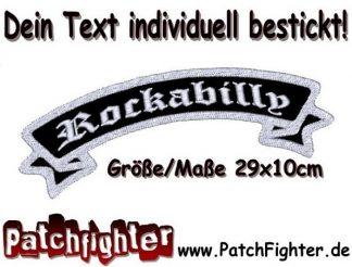ROCKABILLY Patch Aufnäher Rückenaufnäher Weste Kutte 29x10cm