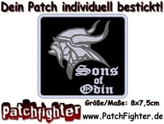 Sons-Of-Odin-Wikinger-Patch-Aufnäher-8x75cm