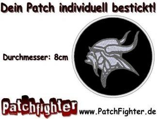 Wikinger Odin Motiv Kreis Patch Aufnäher 8cm