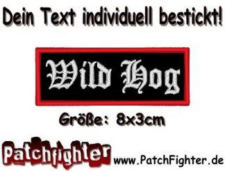 Wild Hog Biker Textilaufnäher Patch Aufnäher 8x3cm