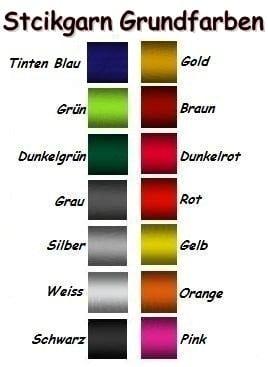 Stickgarn Grundfarben