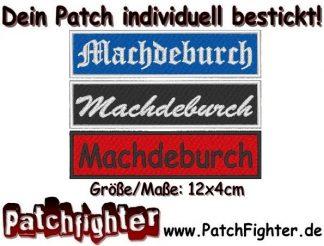 Machdeburch Patch und Aufnäher 12x4cm