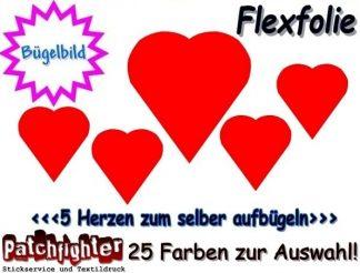 Herzen Bügelmotiv Flex 02