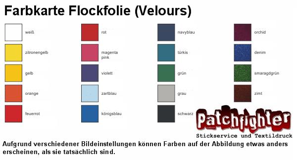 Farbkarte Flockfolie Velour