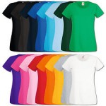 Fruit of the Loom Lady Fit Valueweight T-Shirts für Damen