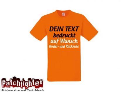 T-Shirt 1 Zeile 25cm Ihr Text als Flexdruck
