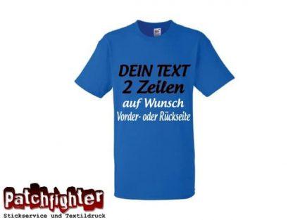T-Shirt 2 Zeilen Ihr Text