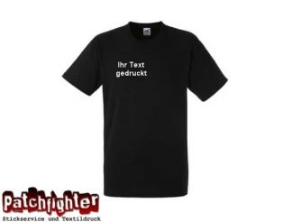 T-Shirt 2 Zeilen klein Flexdruck