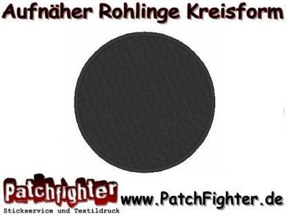 Aufnäher Rohling Kreis schwarz mit Rand gestickt 10cm
