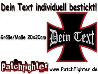 Dein-Text-Wunschtext-aufnäher-Eisernes-Kreuz-Iron-cross-Patch-20x20cm
