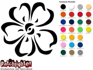 Blüte Bügelbild Flex Folie Hotfix Blume Flower Aufbügler Transferfolie