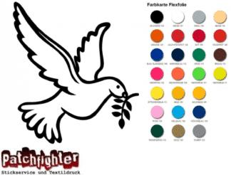 Friedenstaube Bügelbild Flex Folie Hotfix Taube Vogel Bird Aufbügler